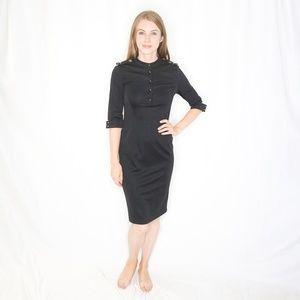 VICTORIA by VICTORIA BECKHAM Black Sheath Dress